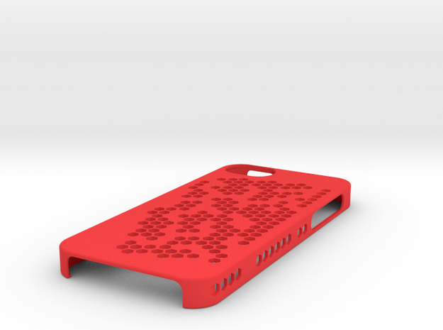 "iPhone 5 Case - ""Hex Holes"" 3d printed"