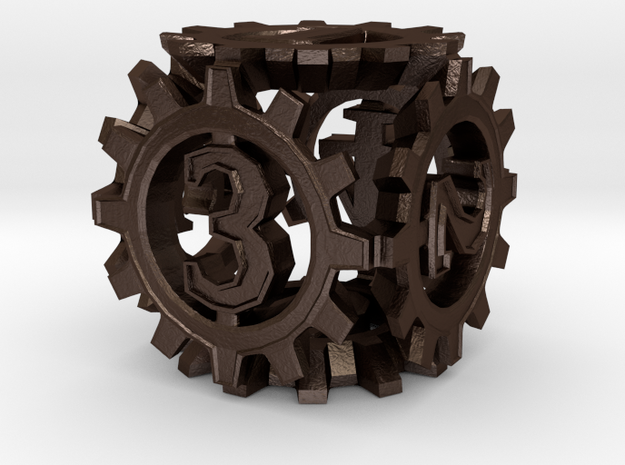 D6 Gear Type 1-(Steampunk/Cog Tinge) 3d printed