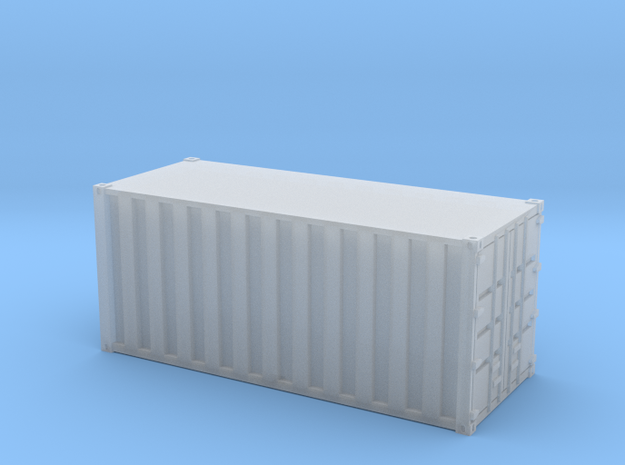 20ft Container Ribbed, (NZ120 / TT, 1:120) 3d printed