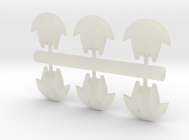 6 Aquatic heavy bombers 3d printed