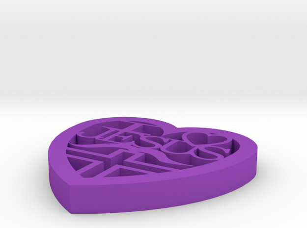 I Love Jesus with Mustache 3d printed