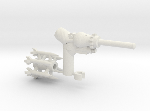 The CogBurner a sidearm for Transformers figures 3d printed
