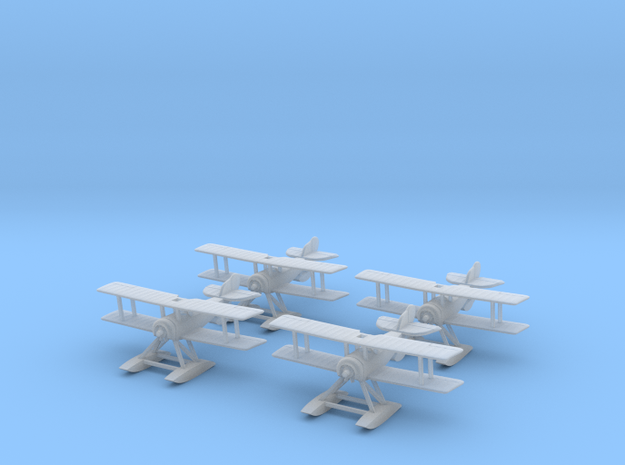 1/300 Sopwith Baby (x4) 3d printed