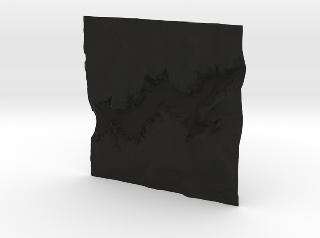 6'' Yosemite Valley Terrain Model, California, USA 3d printed
