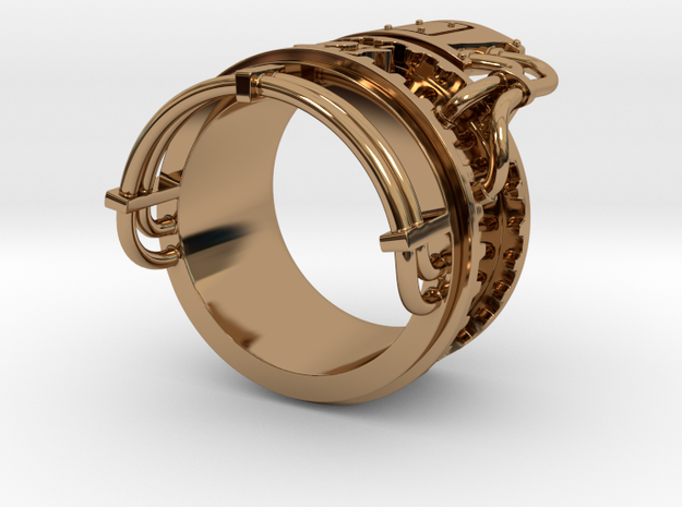 Steampower ring v2 3d printed