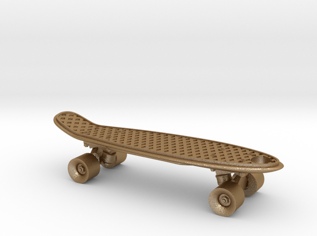 Mini Penny Board - 3D Printed in Stainless Steel 3d printed