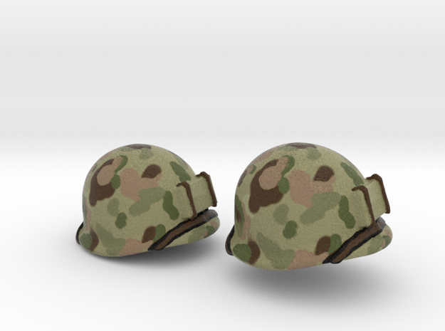 US helmet wwii pacific for LEGO already painted 3d printed