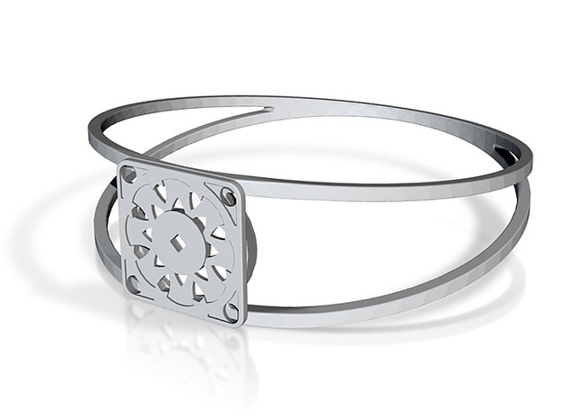 Elegant Bangle - Suspended Coin 3d printed