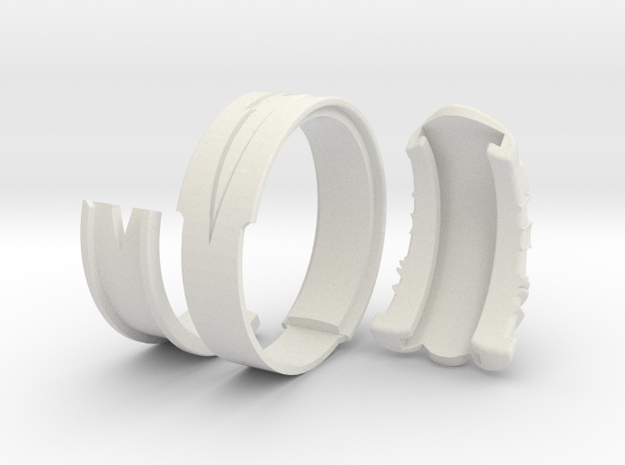 Vambrace Ring 11 3d printed
