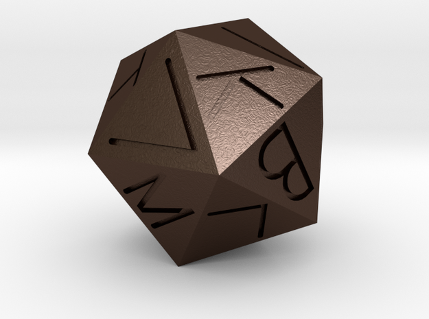 Replica Egyptian 20-Sided Die 3d printed