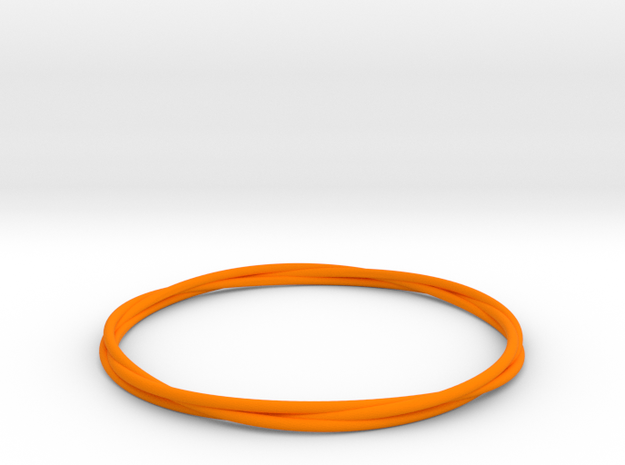 Three loops bangle 3d printed
