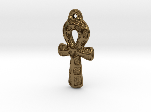 Ankh Pendant - Textured 3d printed