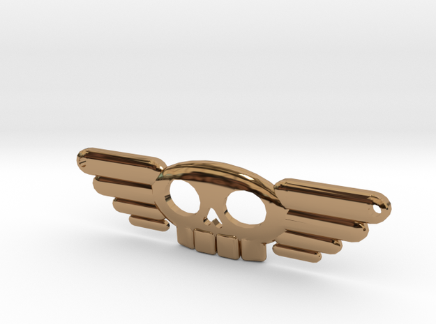 Winged Skull Sky Pirate Pendant 3d printed