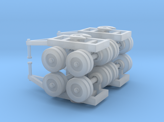Dual Bogie Set - Zscale 3d printed