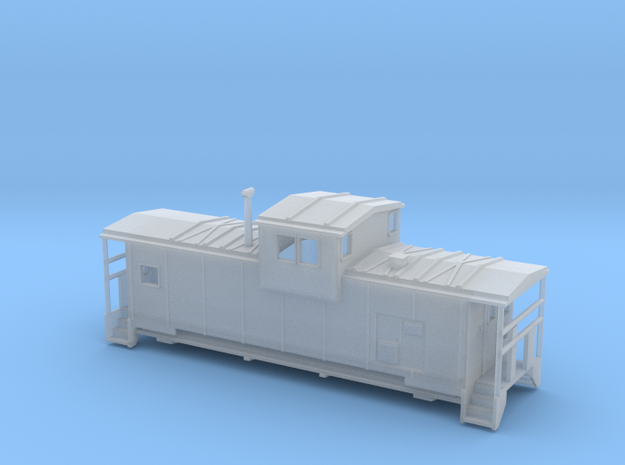 DMIR Modern Caboose - Zscale 3d printed