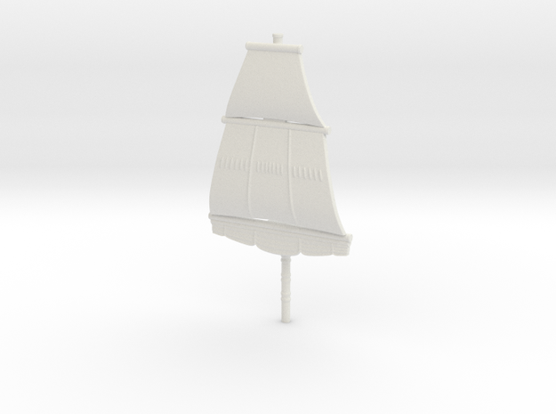 First Rate Foremast, 1:1000 Scale 3d printed