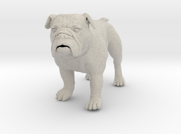 Bulldog XXL Full Color Sandstone - hollow 3d printed