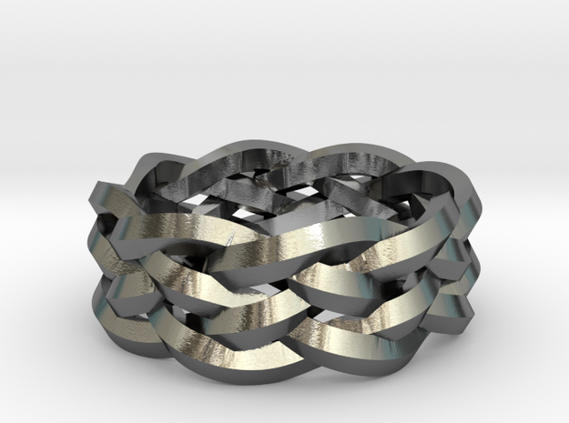 Five-Strand Braid Ring 3d printed