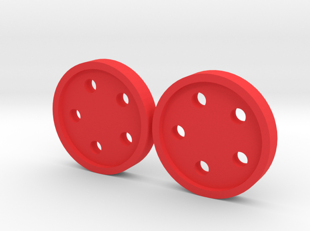"5/8"" five-holed buttons (two) 3d printed"