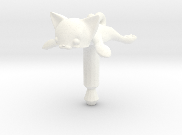 Round Flat Cat, Jack Protector Audio 3d printed