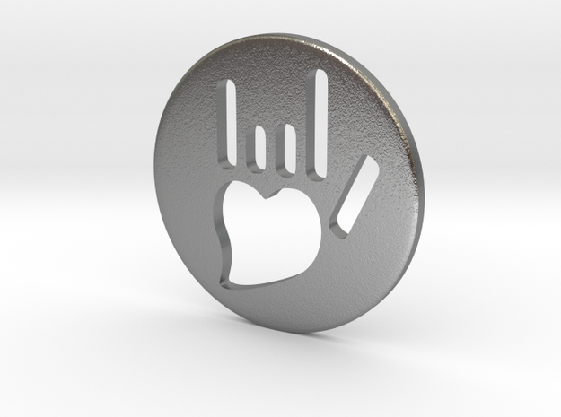 Coin-L - Handsign carved - I love you 3d printed