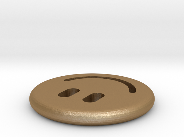 Smiley Friendship Coin 3d printed