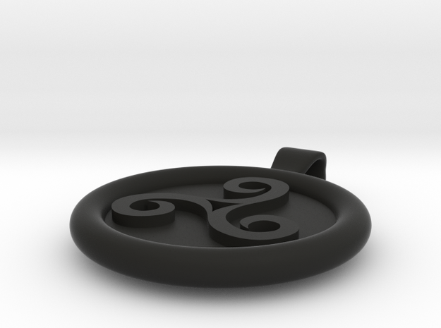 Triskell Round Pendant 3d printed