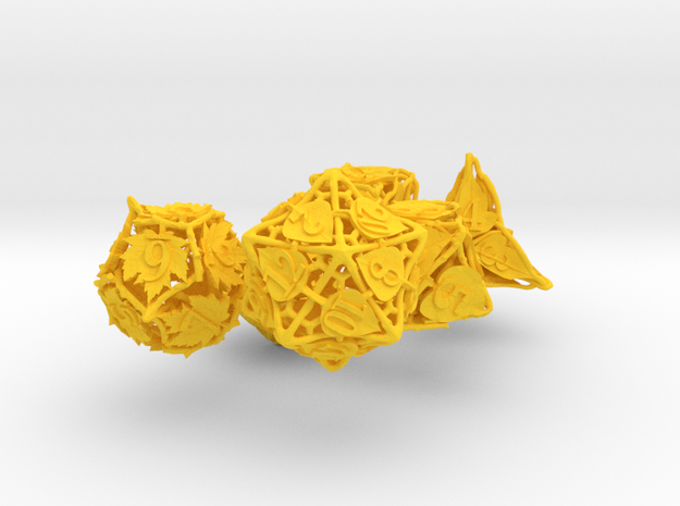 Botanical Dice Set 3d printed