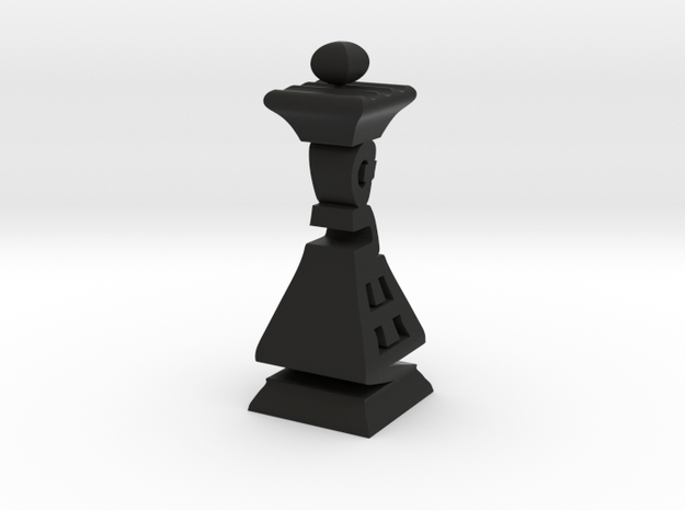 Typographical Queen Chess Piece 3d printed