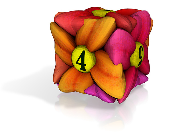 Flower D6 (Small) 3d printed