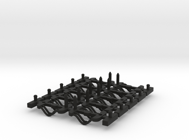 Couplings HST Coach Sprue Filleted 3d printed