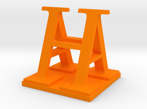 Two way letter / initial A&H size L 3d printed