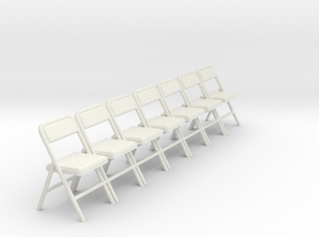 1:24 Group Folding Chairs (Not Full Size)