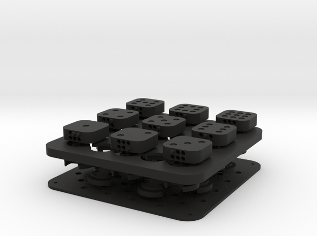 Dancing Dice & Dominoes Puzzle 3d printed