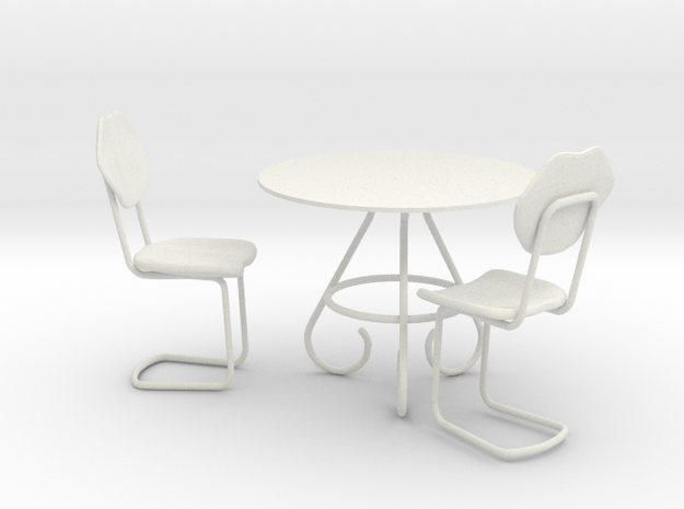 Coffee Table With Chairs for Toys 3d printed