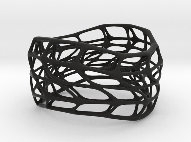 Hollow Panel Bracelet Silver (sz S/M) 3d printed