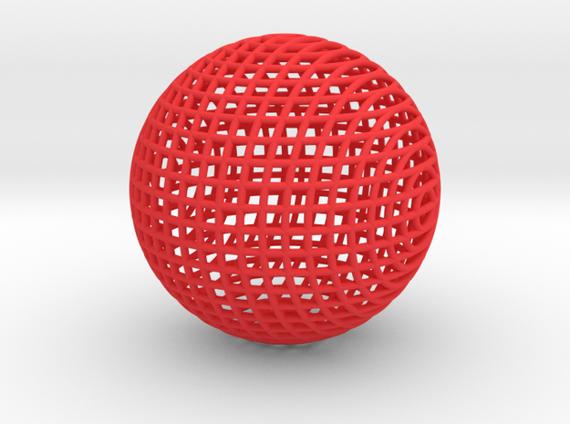 Hollow Wire Sphere V2 3d printed