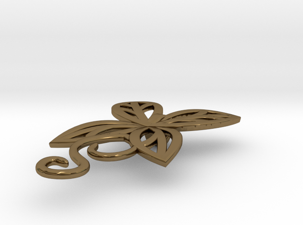 Leaves Butterfly Pendant 3d printed
