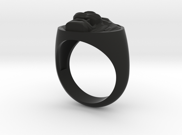 Lion signet ring size 8 3/4 3d printed