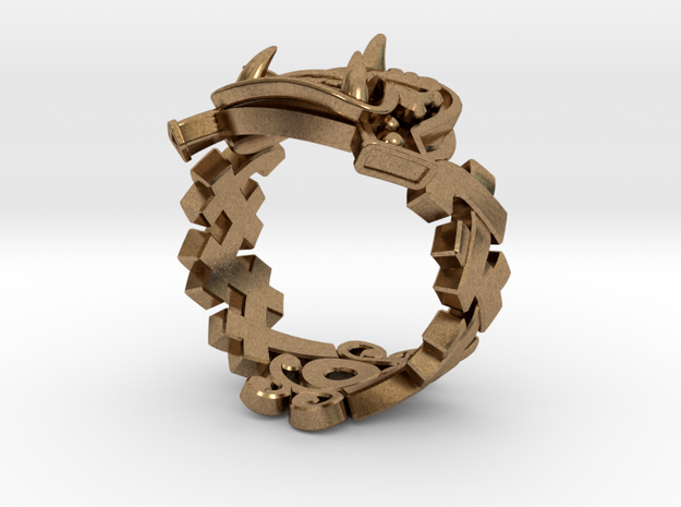Oni-Gawara Ring 3d printed