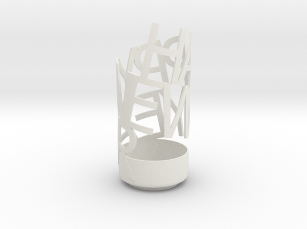 happy new year pencil holder 3d printed