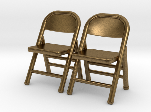 1:48 Miniature Pair of Folding Chairs 3d printed