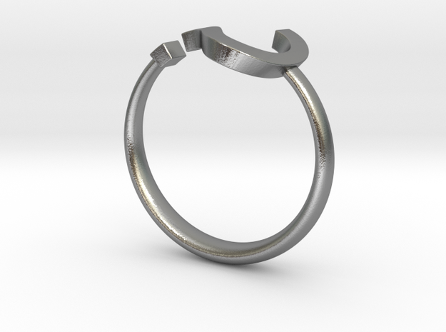 Question Mark Ring - Size US 6 3d printed