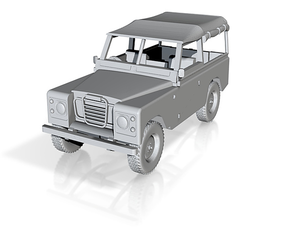 1:120 Landrover 3d printed