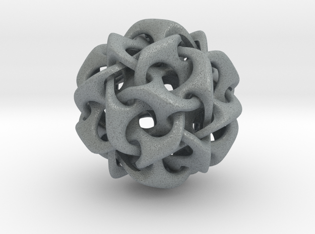 Dodecahedron IV, medium 3d printed