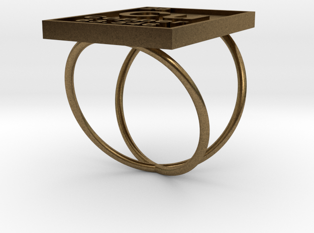 Copper Periodic Table Ring Size 6 3d printed