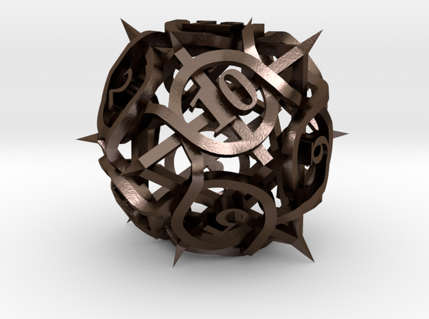 Thorn Die12 Ornament 3d printed