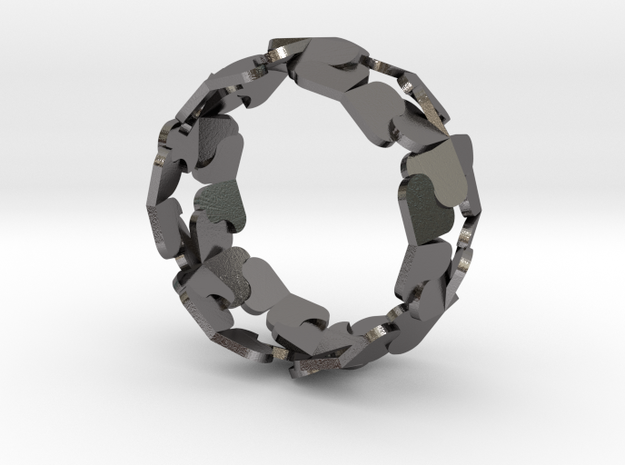 Heart/Clover Ring by Andreas Fornemark 3d printed