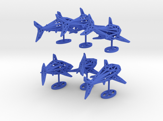 "wall decoration "" 6 Sharks"" 3d printed"