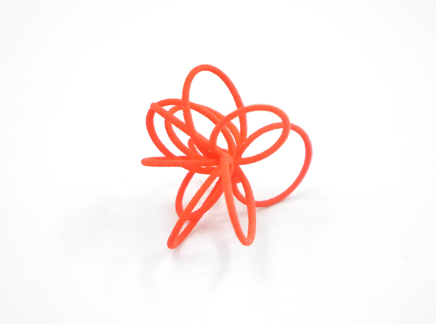 Flora Ring B (Size 8) 3d printed Custom Dyed Color (Coral)